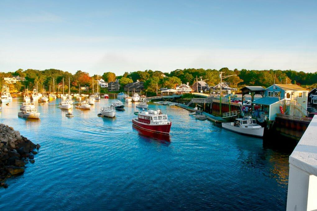 Perkins Cove Harbor, Ogunquit, Maine.