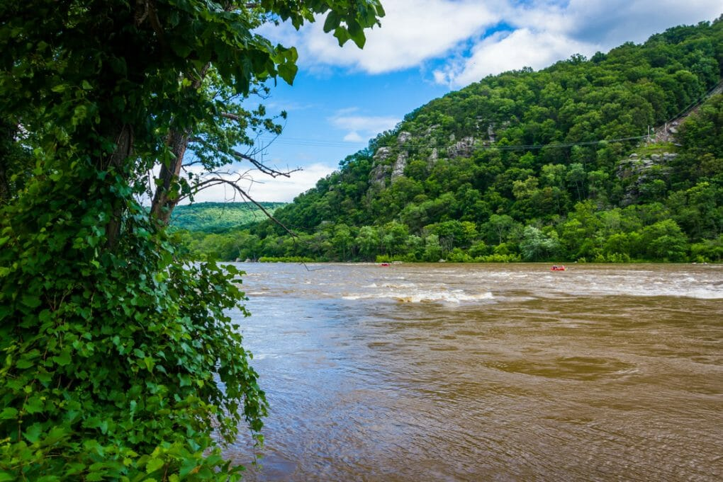 The Potomac River, in Harpers Ferry, West Virginia