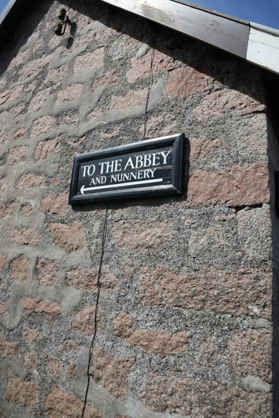 Abbey Sign Iona Scotland