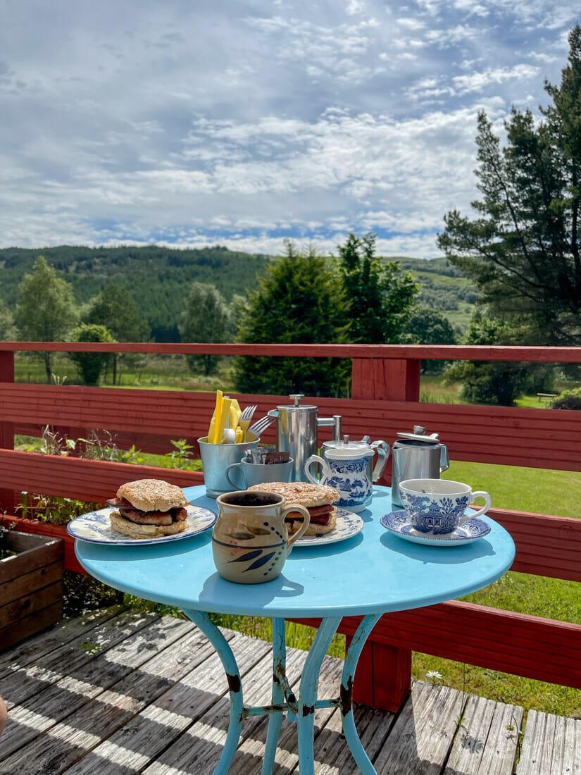 Ariundle Centre Cafe Breakfast Ardnamurchan, Scotland