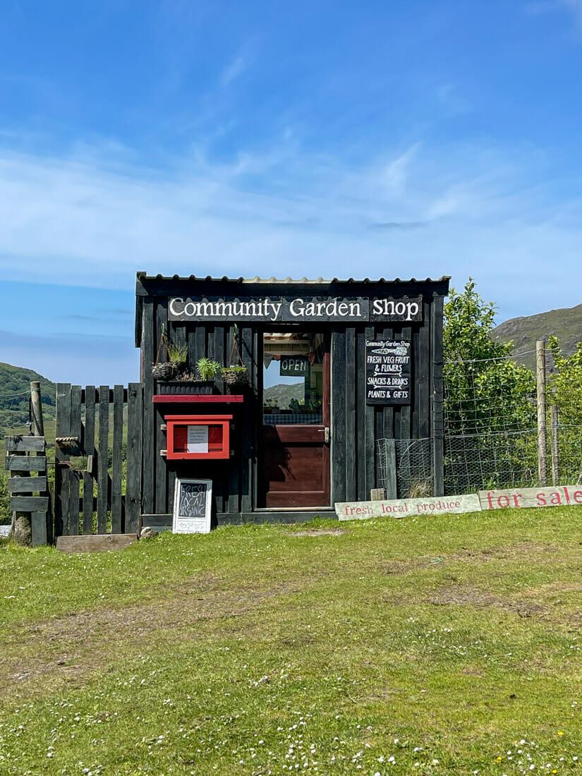 Community Garden Shop Sanna Beach Area Ardnamurchan, Scotland