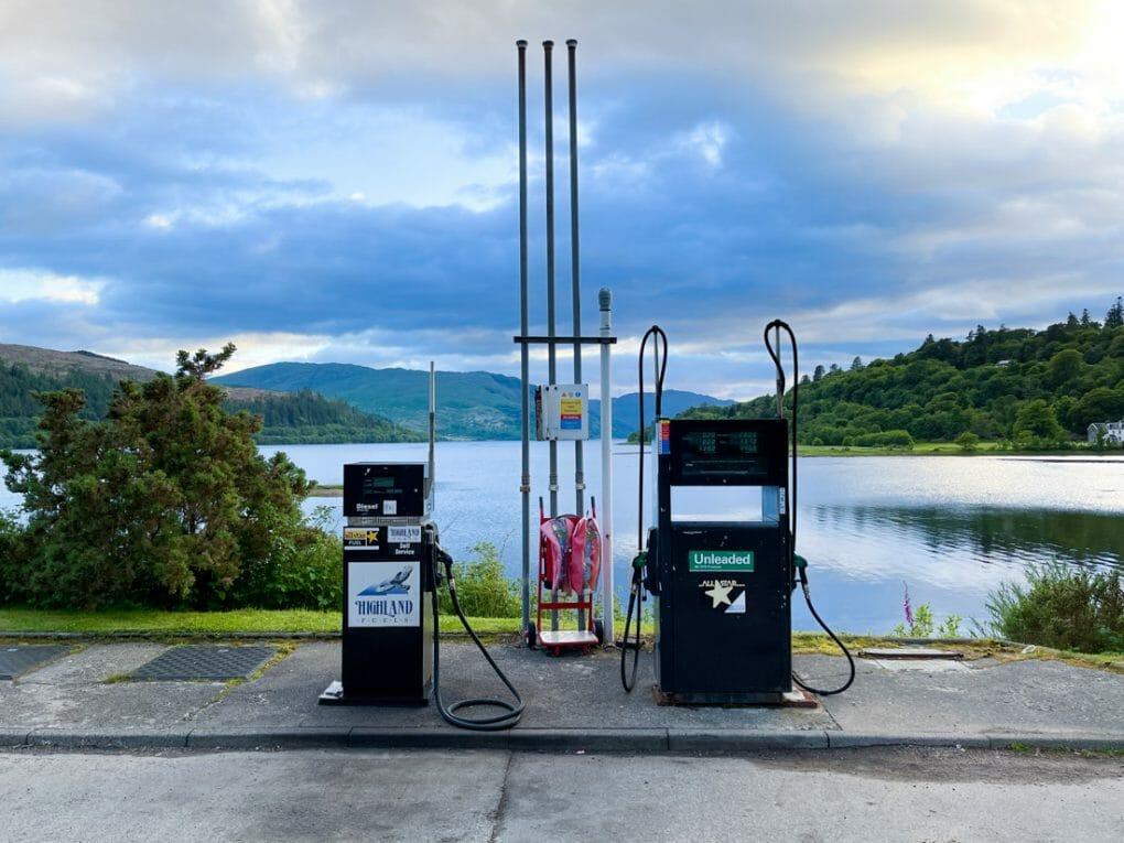 Highland Fuel Petrol Station, in Strontian Ardnamurchan Scotland