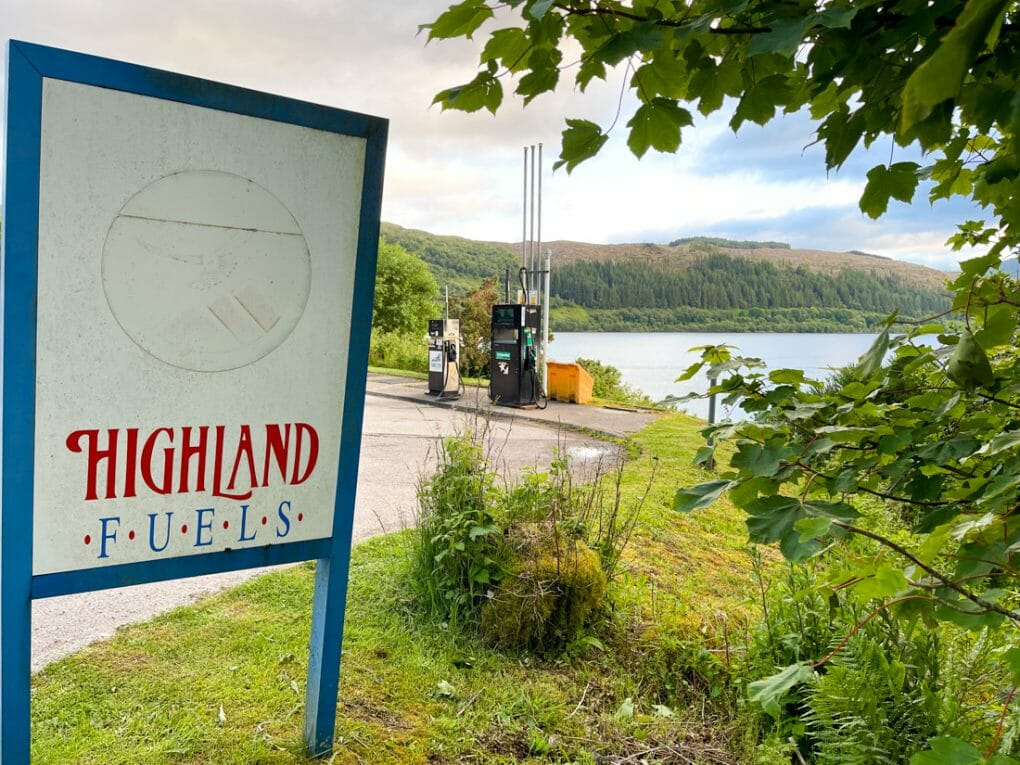 Highland Fuel Petrol Station in Strontian Ardnamurchan Scotland
