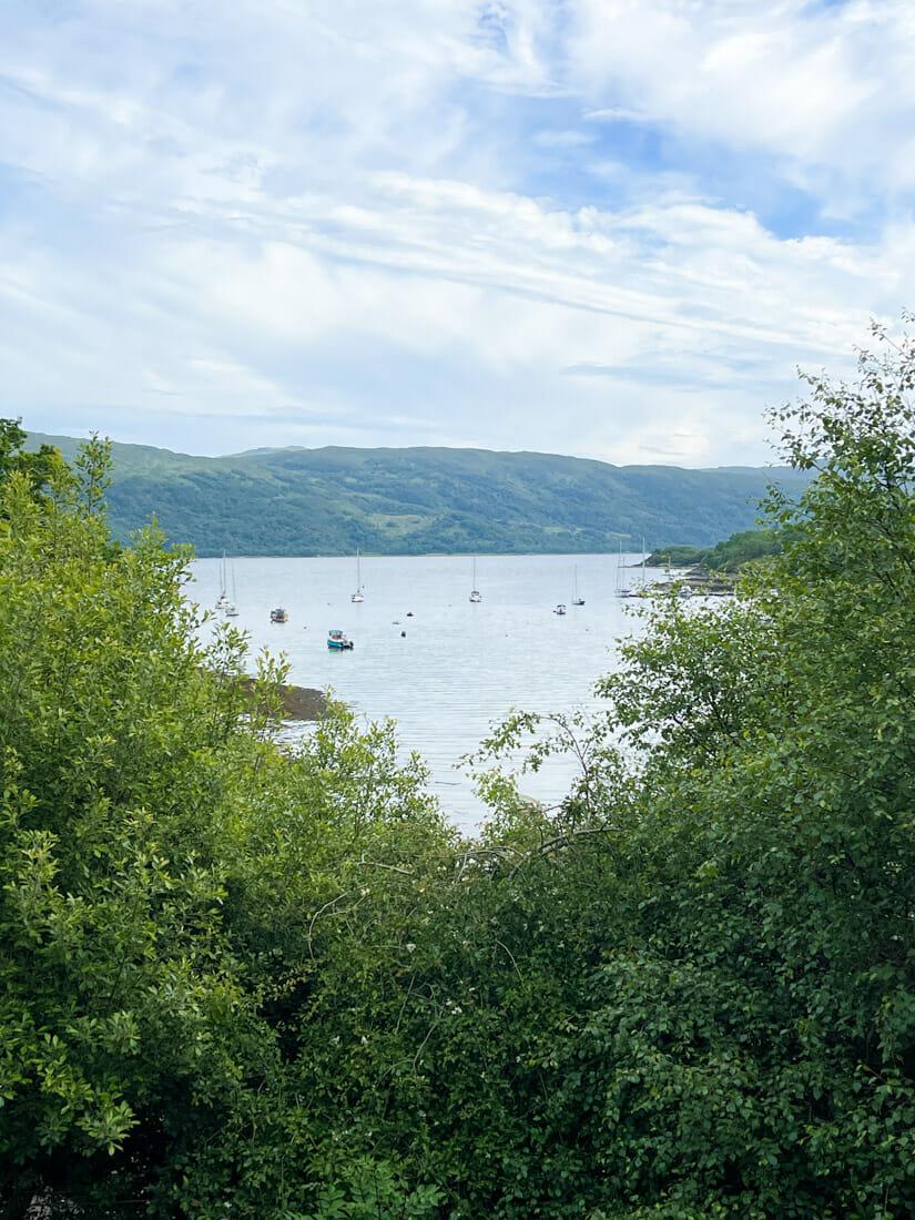 Salen Hotel Views in Ardnamurchan Scotland