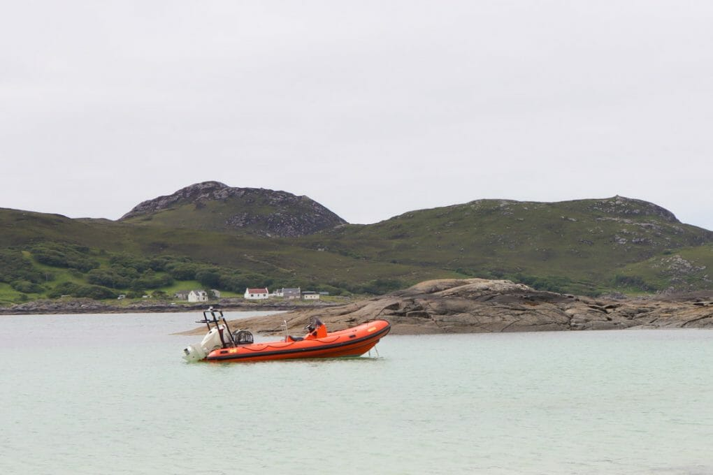 Sanna Bay Boat Ardnamurchan, Scotland