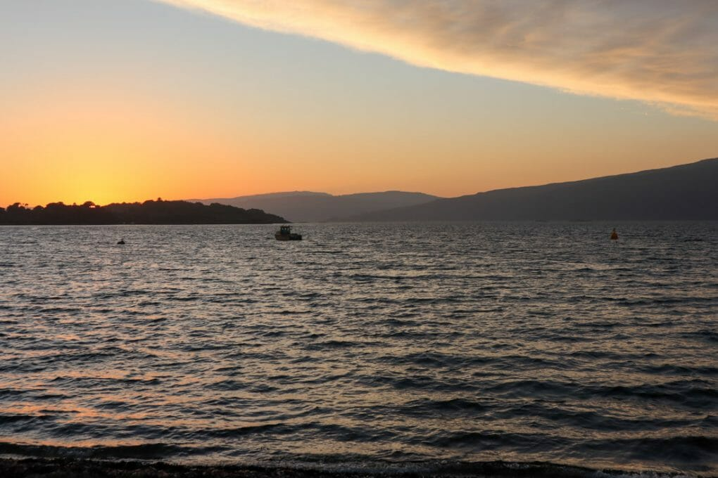 Shieling Holiday Campsite Sunset Mull Scotland