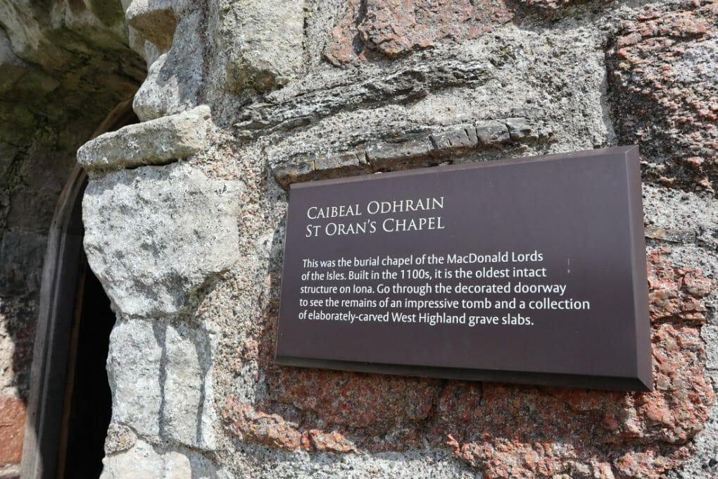 St Obans Chapel Iona Scotland
