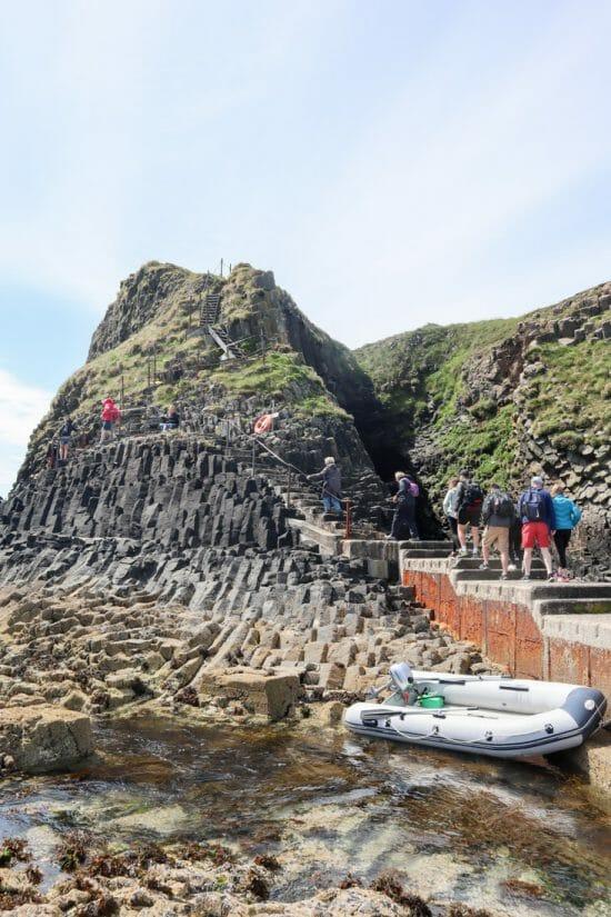Staffa Tours Fingal Cave Stairs Mull Scotland