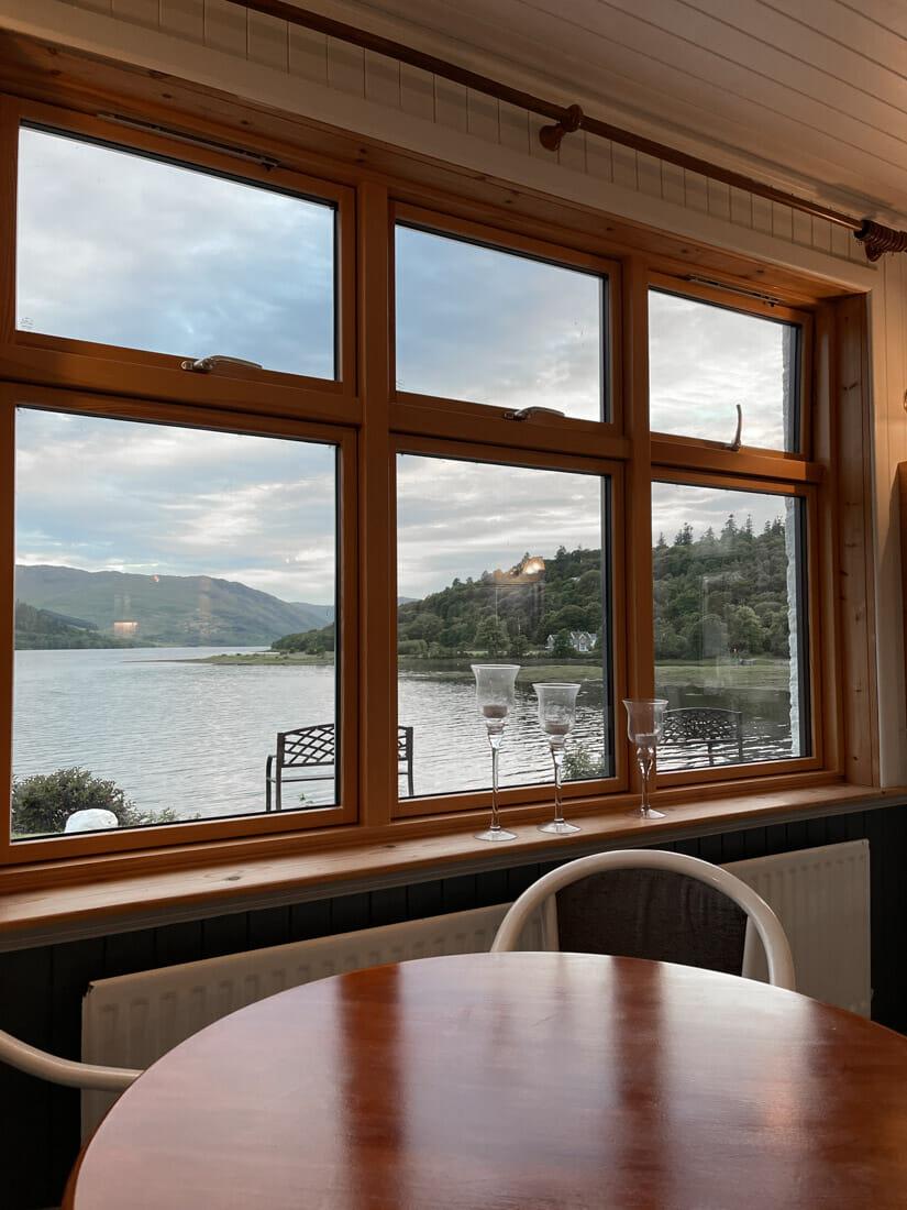 Strontian Hotel Views Ardnamurchan in Scotland