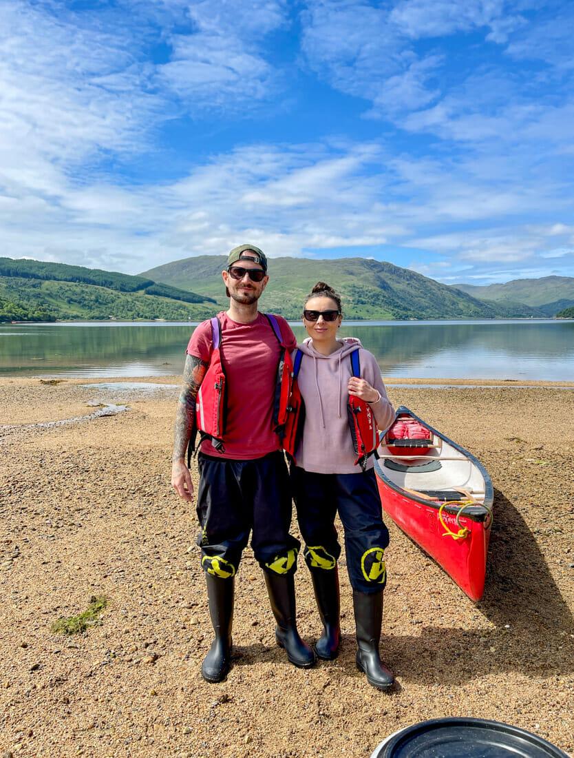Strontian Canoe Tour Couple Ardnamurchan in Scotland