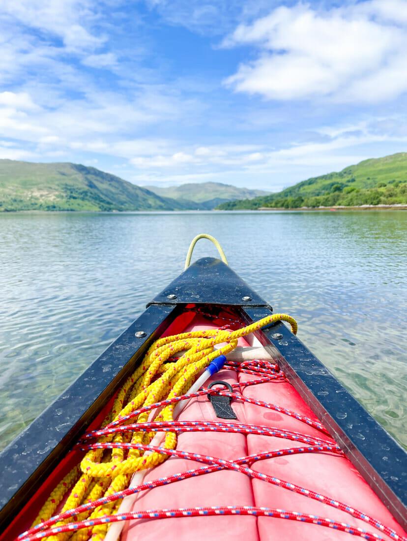 Strontian Canoe Trip Ardnamurchan in Scotland
