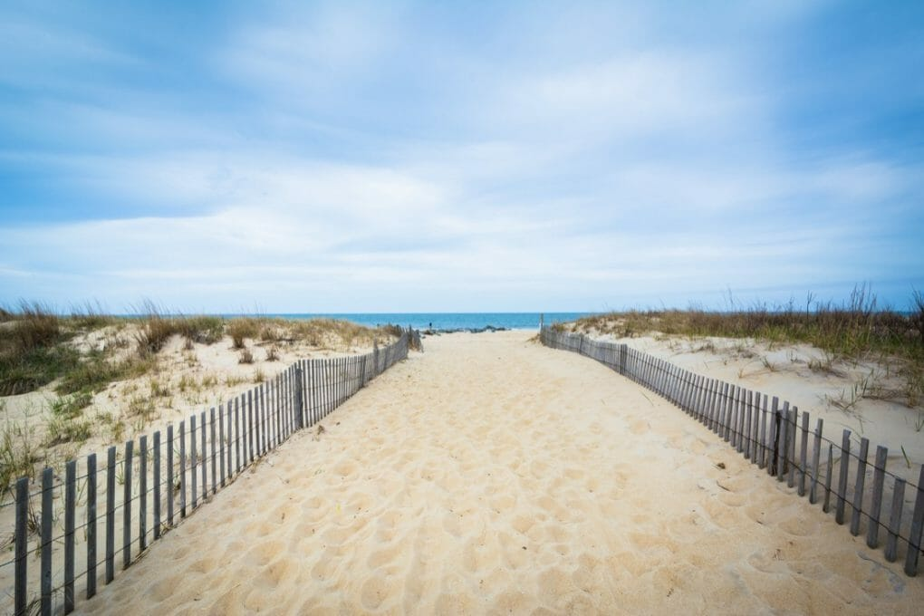 Path to the beach at Cape Henlopen State Park, in Rehoboth Beach. Depositphotos_105076368_l-2015